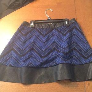 Dresses & Skirts - Black & Blue patterned skirt
